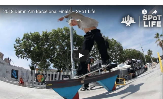 Street League skateboarding 2018 damn am barcelona